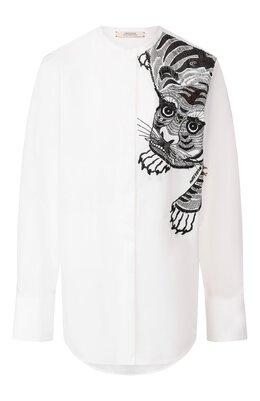 Хлопковая блузка Dorothee Schumacher 648203/PATCHED PERFECTI0N