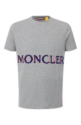 Хлопковая футболка 2 Moncler 1952 x Valextra Moncler Genius E2-091-80047-50-8390T