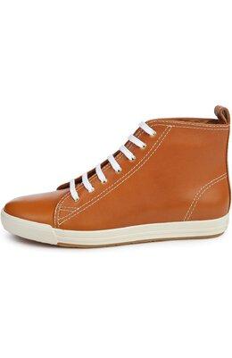 Кожаные кеды Sivanna II на шнуровке Ralph Lauren 853/FWHIT/RSP30