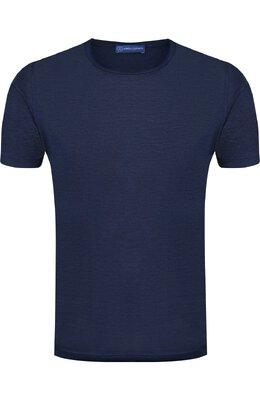 Шелковая футболка Andrea Campagna 60158/78301
