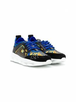 Young Versace кроссовки с принтом Baroque YHX00001YB00266
