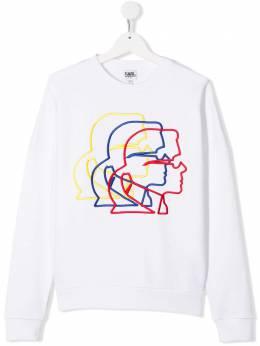 Karl Lagerfeld Kids свитер с длинными рукавами и вышивкой Karl Z2523810B