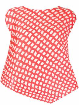 Pleats Please Issey Miyake плиссированная блузка с узором PP06JK681