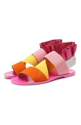 Комбинированные сандалии Emilio Pucci 9ECE40/9EX06