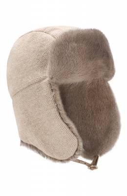 Кашемировая шапка с меховой отделкой Inverni 3943CM.
