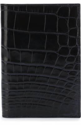 Обложка для паспорта из кожи крокодила Brioni 0HQS0L/07718/AMIS