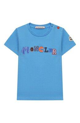 Хлопковая футболка Moncler Enfant E1-951-80254-50-8790A