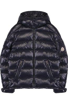Стеганая куртка на молнии с капюшоном Moncler Enfant D2-954-41852-05-68950/8-10A