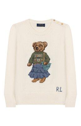 Пуловер из хлопка и шерсти Polo Ralph Lauren 312751059