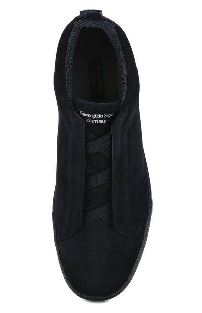 Замшевые кеды Zegna Couture A2511X-CAC - 5