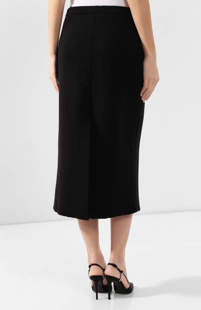 Шерстяная юбка Alessandra Rich FAB1894-K2601 - 4