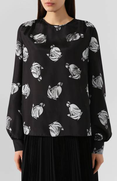 Шелковая блузка Lanvin RW-T0669I-4185-H19 - 3