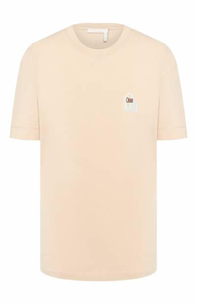Хлопковая футболка Chloe CHC20SJH13181 - 1