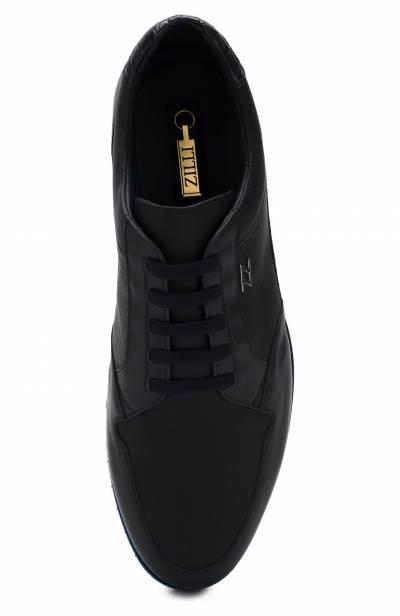 Кожаные кроссовки на шнуровке с отделкой из кожи каймана Zilli ZV B13/015/CCR0 - 5