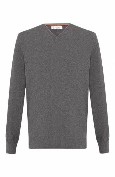 Кашемировый пуловер тонкой вязки Brunello Cucinelli M2200162 - 1