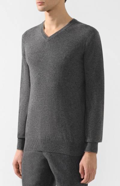 Кашемировый пуловер тонкой вязки Brunello Cucinelli M2200162 - 3