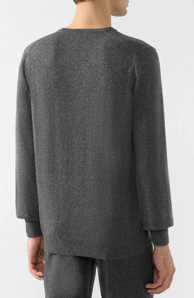 Кашемировый пуловер тонкой вязки Brunello Cucinelli M2200162 - 4