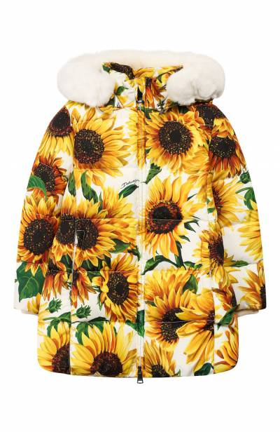 Пуховое пальто Dolce&Gabbana L5JBF4/HSM1X/2-6 - 1