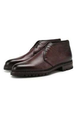 Кожаные ботинки Santoni MLSH17073CL1YLE1S55