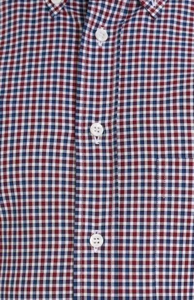 Хлопковая рубашка в клетку с воротником button-down Brioni SC02/06053 - 5