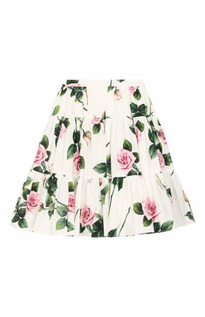 Хлопковая юбка Dolce&Gabbana L53I45/HS5GG/8-14 - 1