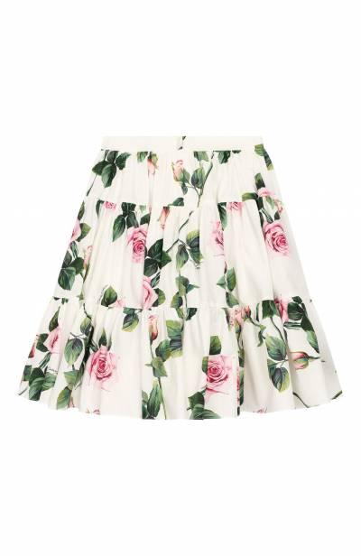 Хлопковая юбка Dolce&Gabbana L53I45/HS5GG/8-14 - 2