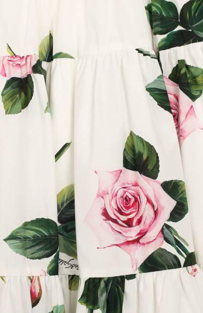 Хлопковая юбка Dolce&Gabbana L53I45/HS5GG/8-14 - 3