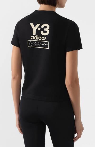 Хлопковая футболка Y-3 FJ0292/W - 4
