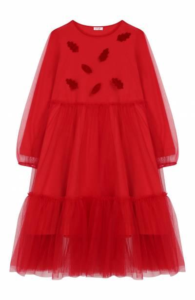 Хлопковое платье Il Gufo A19VL339H0018/10А-12А - 1