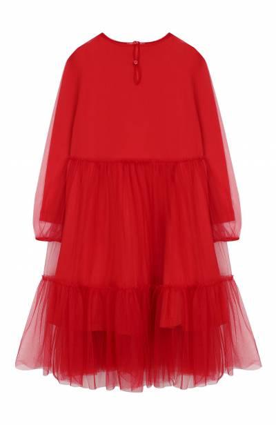 Хлопковое платье Il Gufo A19VL339H0018/10А-12А - 2