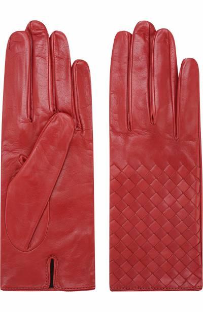Кожаные перчатки с плетением intrecciato Bottega Veneta 244419/V5100 - 2