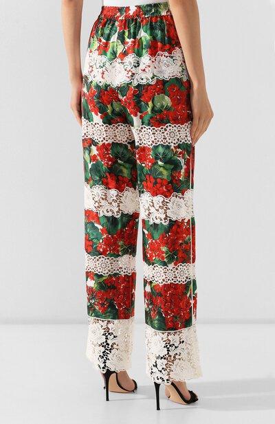 Брюки из смеси хлопка и шелка Dolce&Gabbana FTBBDZ/FGMFJ - 4