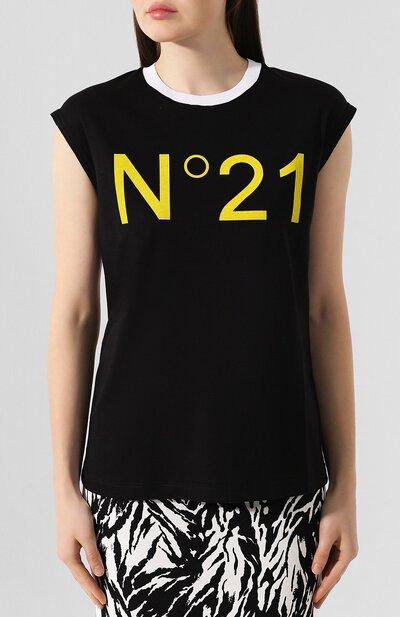Хлопковая футболка No. 21 19I N2P0/F041/4157 - 3