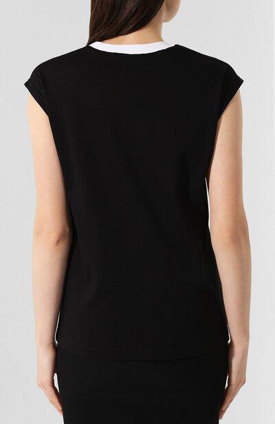Хлопковая футболка No. 21 19I N2P0/F041/4157 - 4