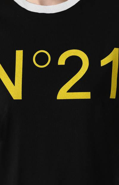 Хлопковая футболка No. 21 19I N2P0/F041/4157 - 5