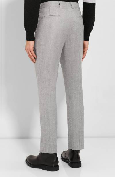 Шерстяные брюки Brunello Cucinelli ME226E1450 - 4