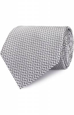Шелковый галстук с узором Brioni 063I/P6470