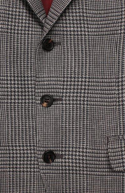 Шерстяной пиджак Brunello Cucinelli BN4647BTDB - 3