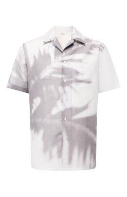 Рубашка из смеси льна и хлопка Brioni SCAT0L/P8134