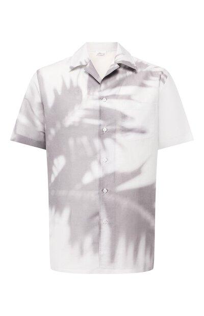 Рубашка из смеси льна и хлопка Brioni SCAT0L/P8134 - 1