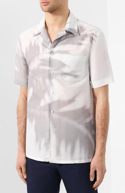 Рубашка из смеси льна и хлопка Brioni SCAT0L/P8134 - 3