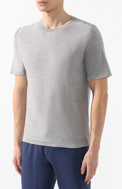 Шелковая футболка Brioni UMR00L/P8K08 - 3