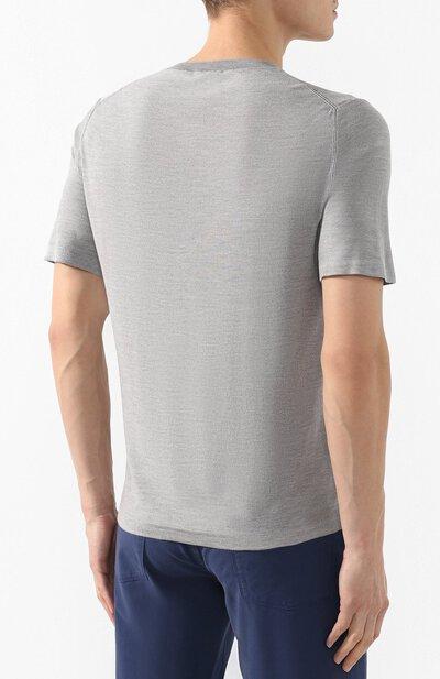 Шелковая футболка Brioni UMR00L/P8K08 - 4