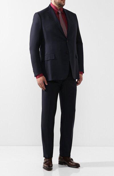 Хлопковая рубашка с воротником button down Zilli MFQ-01501-17004/RE01 - 2