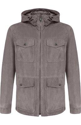 Кожаная куртка на молнии с капюшоном Bottega Veneta 513685/VEPN0
