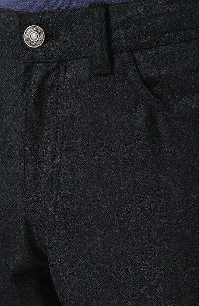 Шерстяные брюки прямого кроя Brioni SPLE0L/07AI5/CHAM0NIX - 5