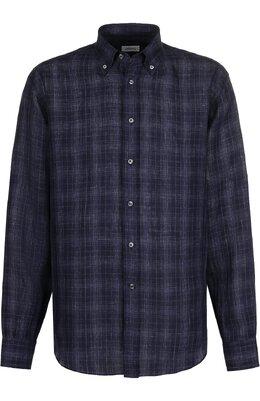 Хлопковая рубашка с воротником button down Brioni SC020Q/P7139