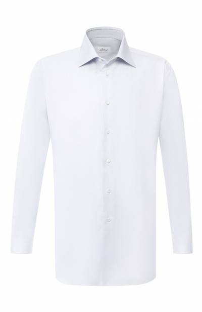 Хлопковая сорочка с воротником кент Brioni RCLU2L/P804G - 1