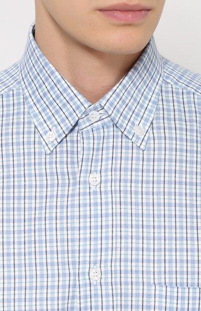 Хлопковая рубашка с воротником button down Brioni SC01/05046 - 5