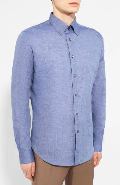 Льняная рубашка Brioni SCAD0L/PZ114 - 3